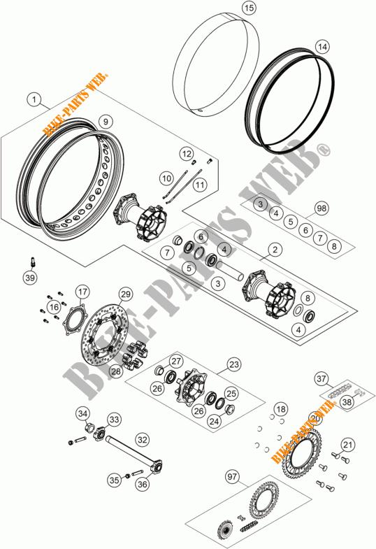Rear Wheel For Ktm 1190 Adventure R Abs 2014   Ktm