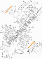 PLASTICS for KTM 1190 ADVENTURE R ABS 2013