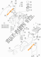 TANK / SEAT for KTM 1190 ADVENTURE R ABS 2013