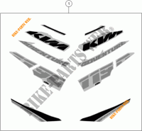 STICKERS for KTM 1190 ADVENTURE ABS GREY WES. 2014
