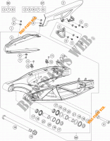 SWINGARM for KTM 1190 ADVENTURE ABS GREY WES. 2014