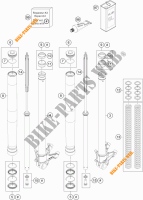 FRONT FORK (PARTS) for KTM 1050 ADVENTURE ABS 2015