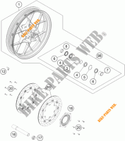 FRONT WHEEL for KTM 1050 ADVENTURE ABS 2015