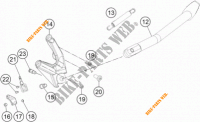 SIDE / MAIN STAND for KTM 1050 ADVENTURE ABS 2015