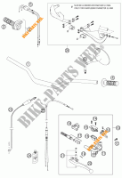 HANDLEBAR / CONTROLS for KTM 950 ADVENTURE SILVER 2003