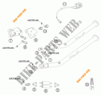 SIDE / MAIN STAND for KTM 950 ADVENTURE SILVER 2003