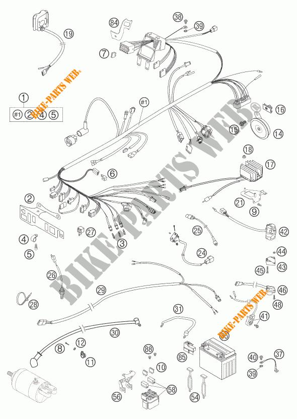 Wiring Harness For Ktm 625 Smc 2006   Ktm