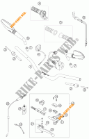HANDLEBAR / CONTROLS for KTM 690 SUPERMOTO ORANGE 2007