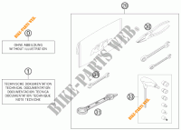 TOOL KIT / MANUALS / OPTIONS for KTM 500 XC-W 2012