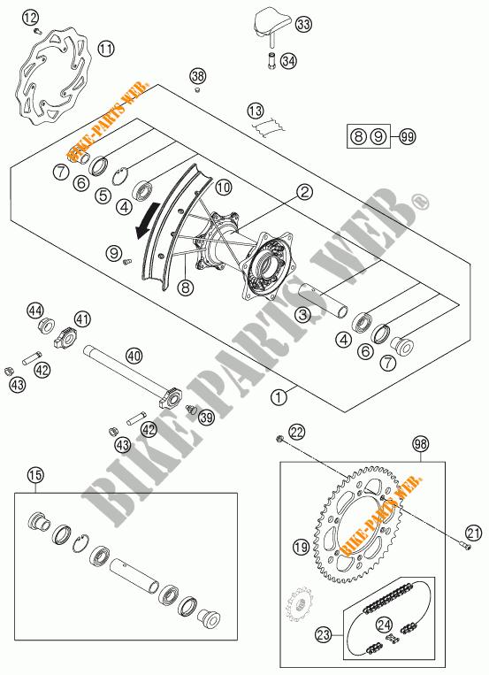 Rear Wheel For Ktm 300 Xc-w Six Days 2015   Ktm