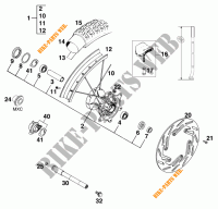 FRONT WHEEL for KTM 200 MXC 1998