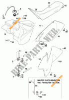 TANK / SEAT for KTM 200 MXC 1998