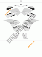 STICKERS for KTM RC 390 BLACK 2017