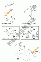 ACCESSORIES for KTM 640 LC4 1999