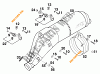 EXHAUST SILENCER for KTM 640 LC4 1999