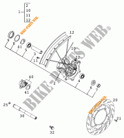 FRONT WHEEL for KTM 640 LC4 1999