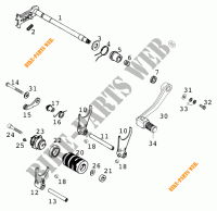 GEAR SHIFTING MECHANISM for KTM 640 LC4 1999