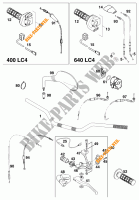 HANDLEBAR / CONTROLS for KTM 640 LC4 1999