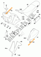 TANK / SEAT for KTM 640 LC4 1999