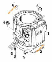 CYLINDER for KTM 620 EGS WP 37KW 20LT VIOL  1995