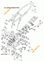 FRAME for KTM 620 EGS WP 37KW 20LT VIOL  1995