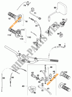 HANDLEBAR / CONTROLS for KTM 620 EGS WP 37KW 20LT VIOL  1995