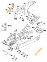 SWINGARM for KTM 620 EGS WP 37KW 20LT VIOL  1995