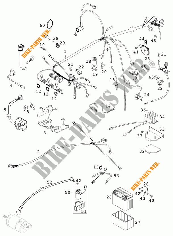 Wiring Harness For Ktm 400 Lc4-e 2000   Ktm