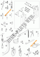 SPECIFIC TOOLS (ENGINE) for KTM 525 EXC RACING SIX DAYS 2006