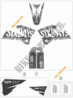 STICKERS for KTM 525 EXC RACING SIX DAYS 2006