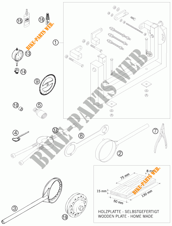 Specific Tools  Engine  For Ktm 300 Exc-e Six Days 2010   Ktm