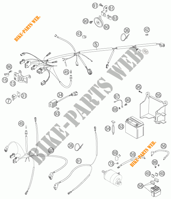 Wiring Harness For Ktm 250 Exc-f 2006   Ktm