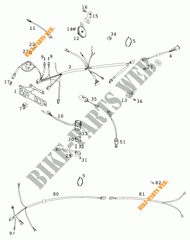 Wiring Harness For Ktm 125 Exc Six