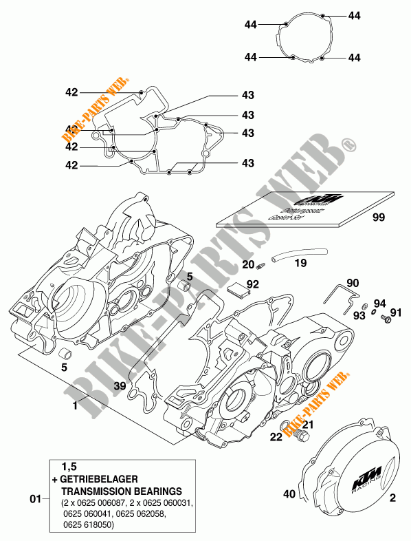 Crankcase For Ktm 125 Exc 2000   Ktm