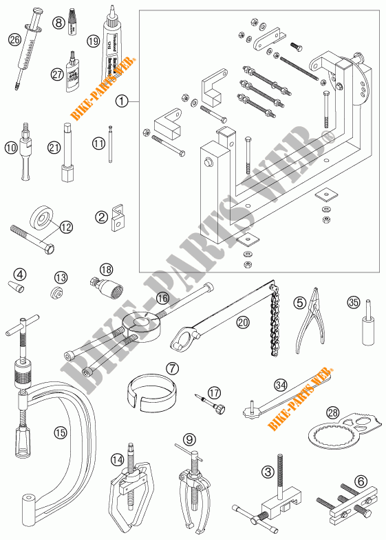 Specific Tools  Engine  For Ktm 450 Exc Racing 2007   Ktm