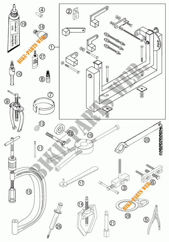 Specific Tools  Engine  For Ktm 450 Exc