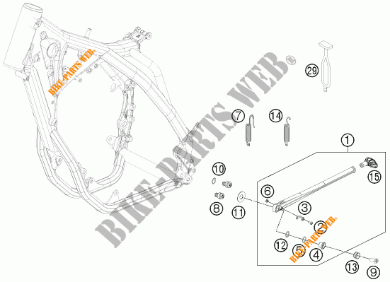 Side    Main Stand For Ktm 350 Exc-f 2012   Ktm