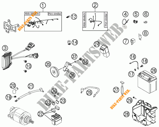 Wiring Harness For Ktm 350 Exc-f 2012   Ktm