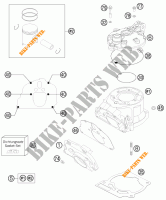 CYLINDER / HEAD for KTM 200 EXC 2013