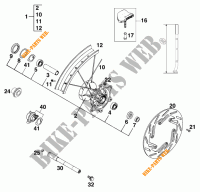 FRONT WHEEL for KTM 200 EXC 1999
