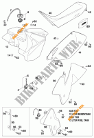 TANK / SEAT for KTM 200 EXC 1999