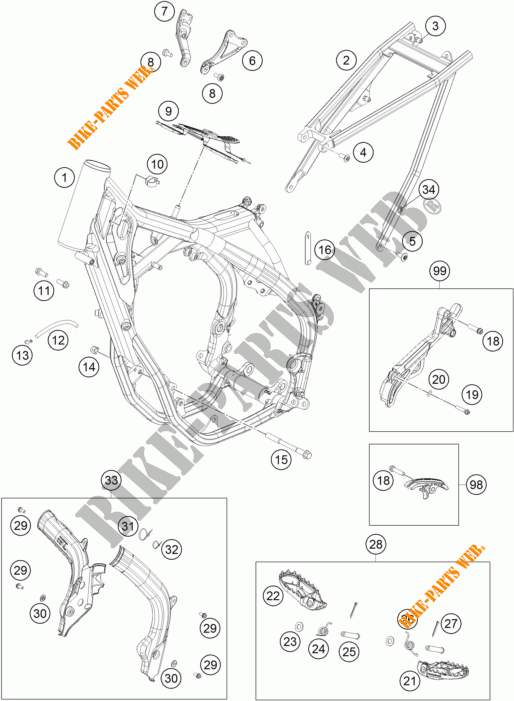 FRAME for KTM 350 SX-F 2018