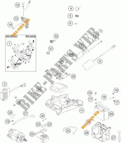 Wiring Harness For Ktm 350 Sx-f 2014   Ktm