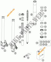 FRONT FORK (PARTS) for KTM 990 SUPER DUKE R 2007