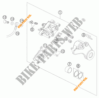 REAR BRAKE CALIPER for KTM 990 SUPER DUKE R 2007