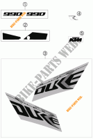 STICKERS for KTM 990 SUPER DUKE R 2007