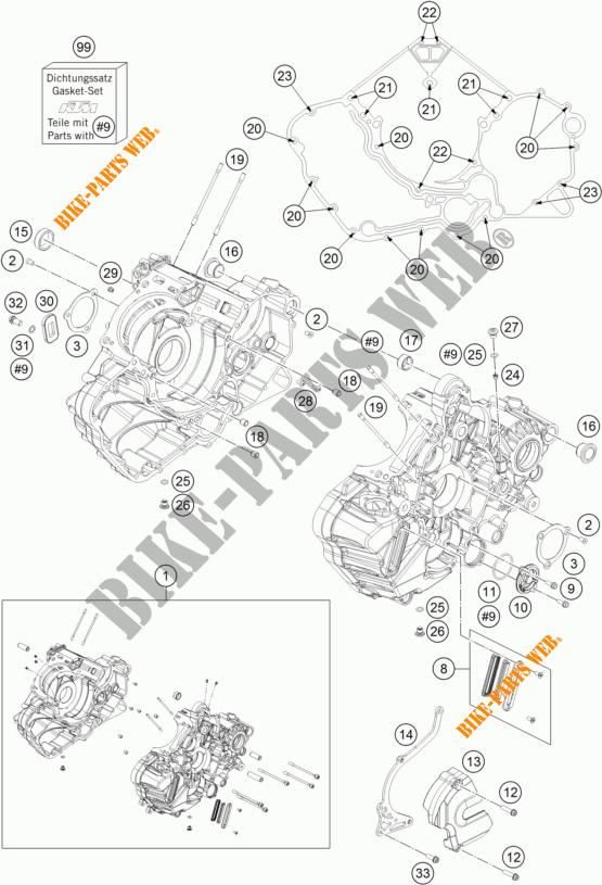 Crankcase For Ktm 1290 Super Duke Gt Orange 2017   Ktm