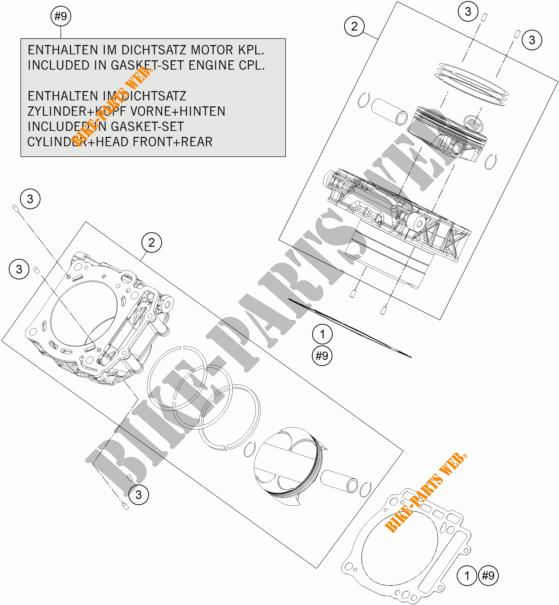 Cylinder For Ktm 1290 Super Duke Gt Orange 2017   Ktm