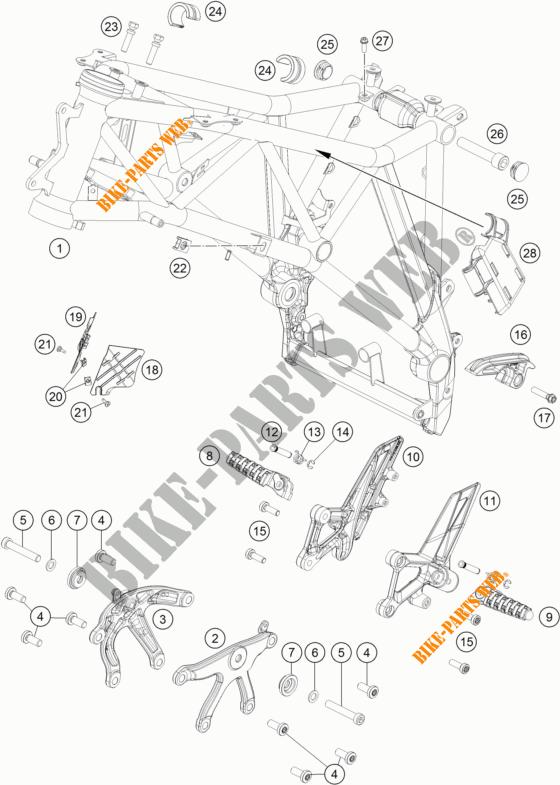 Frame For Ktm 1290 Super Duke Gt Orange 2017   Ktm