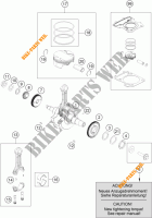 CRANKSHAFT / PISTON for KTM 390 DUKE WHITE ABS 2013